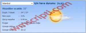 Hava Tahmin v1.0 Scripti Demo