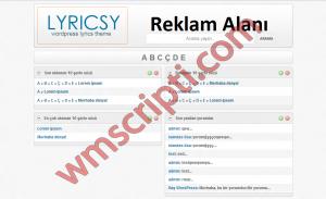 Lyricsy v1.3.6 WordPress Şarkı Sözü Teması Demo