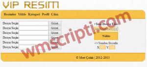 VIP Resim Yükleme Scripti Demo
