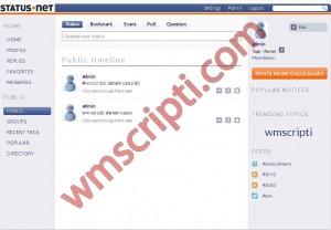 Statusnet v1.1.1 Sosyal Paylaşım Scripti Görseli