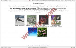 TWG – TinyWebGallery v1.8.9 Resim Galerisi Scripti Demo