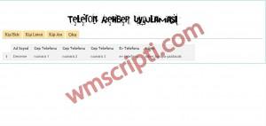 PHP Telefon Defteri Scripti Demo