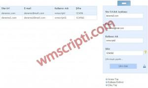 PHP Şifre Yönetim Scripti Görseli