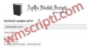 AyQo Sözlük Scripti Demo