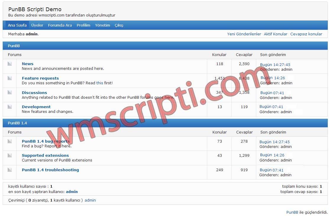 New forum script PunBB-Forum-Scripti