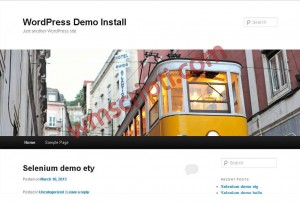 WordPress v4.7.5 Blog Scripti Demo