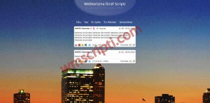 Webkarizma Dedikodu ve İtiraf Scripti Demo