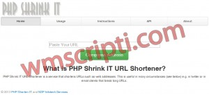 PHP Shrink IT Link Kısaltma Scripti Demo