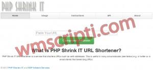 PHP Shrink IT Link Kısaltma Scripti Demo