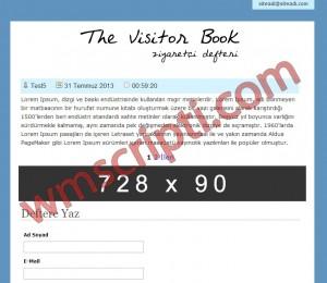 The Visitor Book Ziyaretçi Defteri Scripti Demo