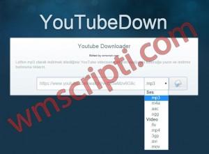YouTubeDown Youtube İndirme Scripti Görseli