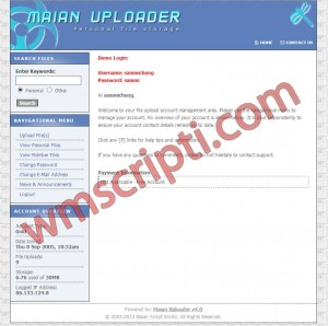 Maian Uploader v4.0 Dosya Yükleme Scripti Demo