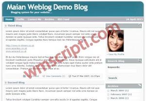 Maian Weblog v4.0 Blog Scripti Görseli