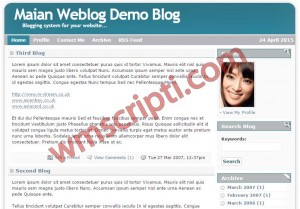 Maian Weblog v4.0 Blog Scripti Demo