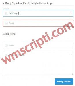 STorg Yönetim Panelli İletişim Formu Demo