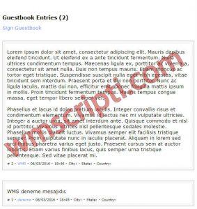 GentleProjects v2.1.1 Ziyaretçi Defteri Scripti Görseli