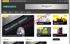 Prelegance Genel Blog WordPress Teması Demo